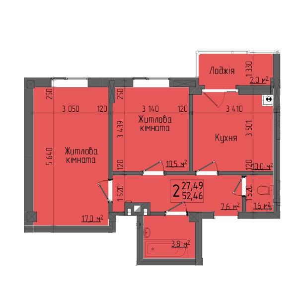 двокімнатна квартири чернівці