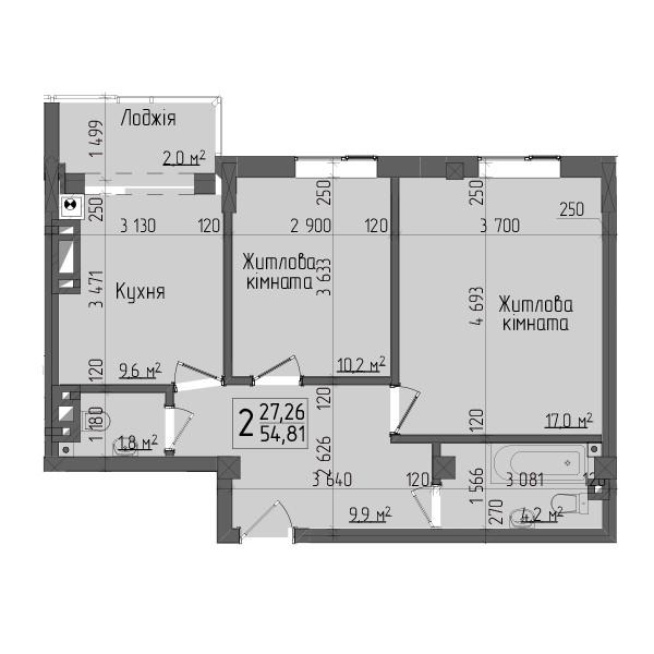 двокімнатна квартира чернівці