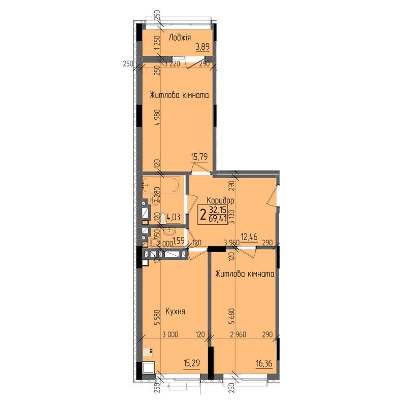 холова двокімнатна квартира